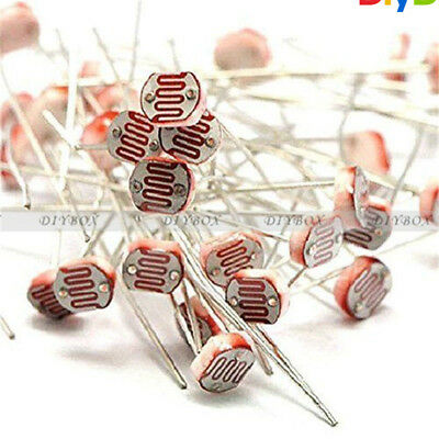 20PCS Photo Light Sensitive Resistor Photoresistor Optoresistor 5mm GL5539