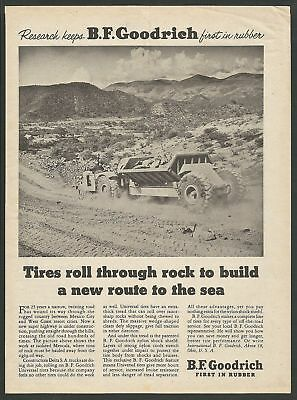 B.F.GOODRICH - Mexico City: New route to the sea - 1954 Vintage Print Ad
