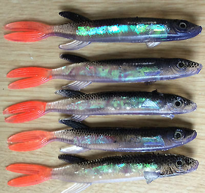 Pike Perch & Bass Pollack soft plastic holo lures - multi listing pack of lures