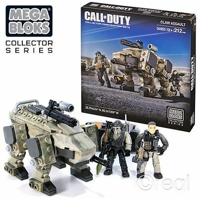 New Call Of Duty Claw Assault Construction Set & Figures Playset 6855 Mega Bloks