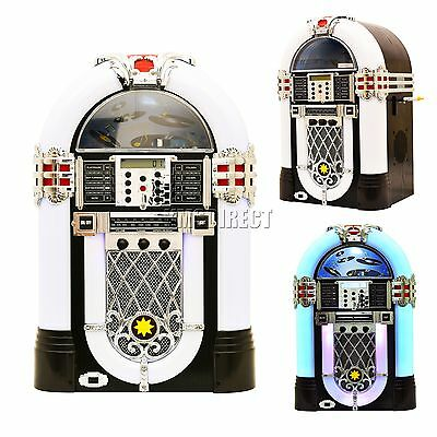 FoxHunter Jukebox Stereo MP3 CD Player USB Aux SD FM Radio Table Top Chicago New