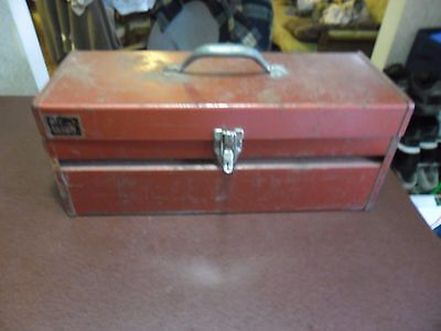 VINTAGE Red Tool Box My Buddy