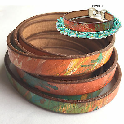 50cm x 10mm Genuine Leather Cord with Watercolour Finish