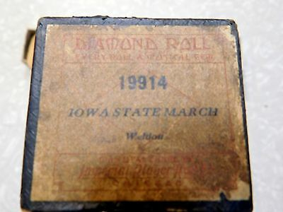 Piano Roll - Iowa State March By Weldon Diamond Imperial Roll #19914