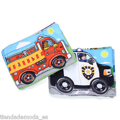Jollybaby Infant Educational Cloth Book Toy Set of 2 Police Car Fire-fighting AU