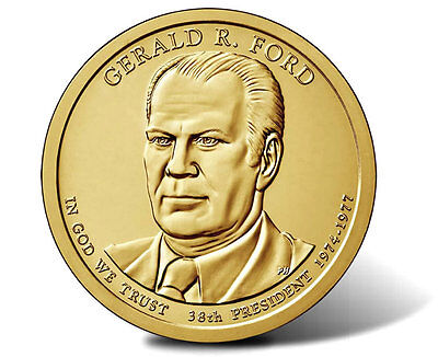 2016 President Gerald Ford P&D 2 Dollar Coin Presidential Set Uncirculated BU