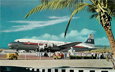 City of Tokyo DC-6B at HONOLULU HAWAII Airport ~JAPAN AIRLINES~ Great Old View