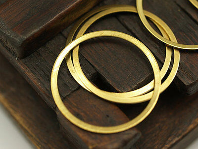20 x Large Raw Brass Ring Connector Rings 28mm dia