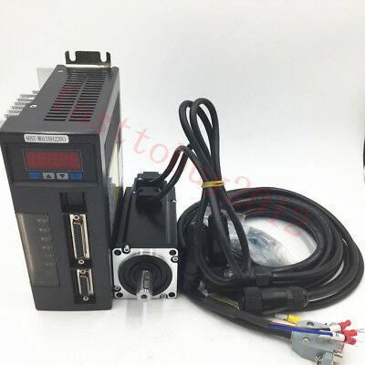 400W NEMA24 1.26NM CNC Servo Motor 220V AC Driver Kit &3M Cable 2 Years Warranty