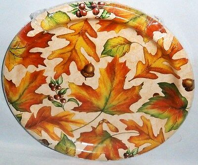 """Fall Paper Plates 10 ct   8 3/4"""" Plates SCATTERED LEAVES"""