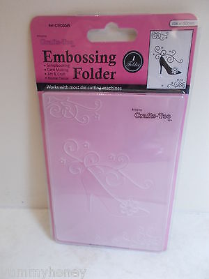 Shoe Embossing Folder A6 Crafts Too CTFD3069