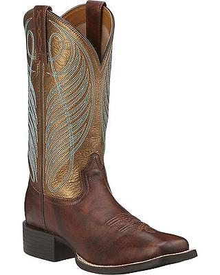 Ladies Ariat  Round Up Wide Square Toe Boot (10016317) BRAND NEW