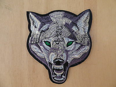 GRAND ECUSSON PATCH THERMOCOLLANT toppa haufnaher / LOUP biker chopper country
