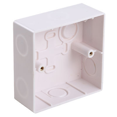 Fireproof Plastic Material Wall Mounted Back Wiring Box Gang 86LX86WX35H/mm.