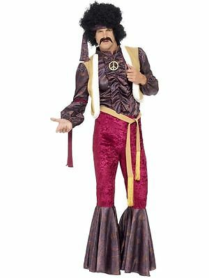 70's Psychedelic Rocker Costume with Flares- Adult Men Outfit 1970's Fancy Dress
