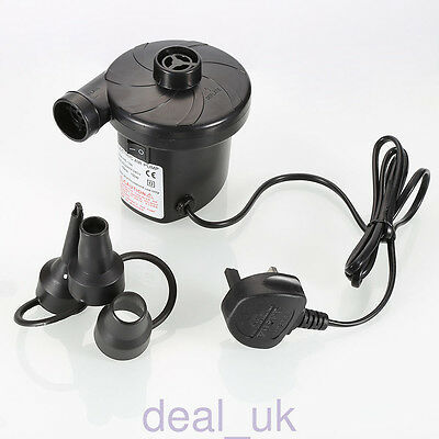 Quick-Fill AC Electric Air Pump 110-120V Max Air Flow 21.2CFM For Inflatable Bed