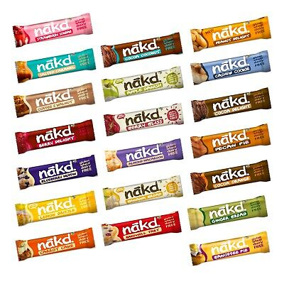 Nakd Fruit Nut Bar Mixed Single Bar Selection 18 12 10 Dairy Wheat Gluten Free