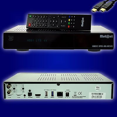 Mut@nt Mutant ULTRA HD HD51 2160p 4K-BOX E2 Linux Receiver DVB-C/T2 Tuner + HDMI