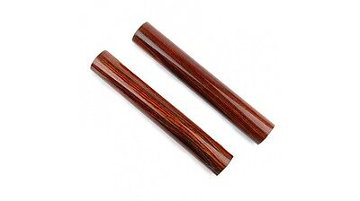 Pair Wooden Claves Redwood Mini Percussion Instrument 14cm Wood Block Sticks