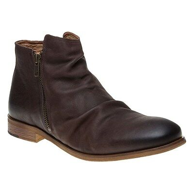 New Mens SOLE Brown Ashby Leather Boots Zip