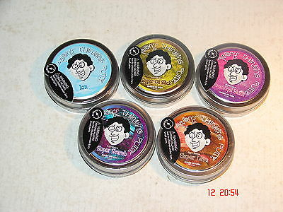 CRAZY AARON'S THINKING PUTTY x 5 SMALL TINS