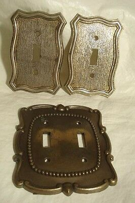 Vintage American Tack Light Switch Plate Cover Lot 3