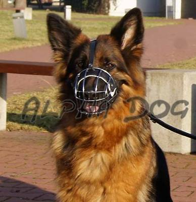 Strong Metal Wire Basket Dog Muzzle for German Shepherd, Labrador Fully Padded