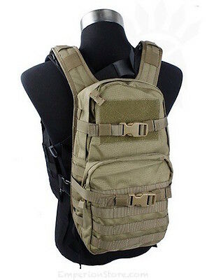TMC MOLLE Back Pack for RRV Khaki TMC1483 Military Zaino Airsoft Navy Seal Eagle