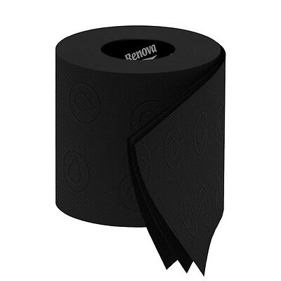 Renova Black Toilet Paper - 6 Rolls Pack, 3 Ply - Free Shipping