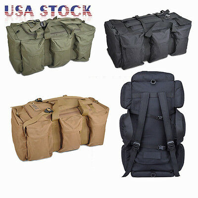 90L Utility Tactical Shoulder Camping  Military Backpack Duffle Pack Bag Luggage