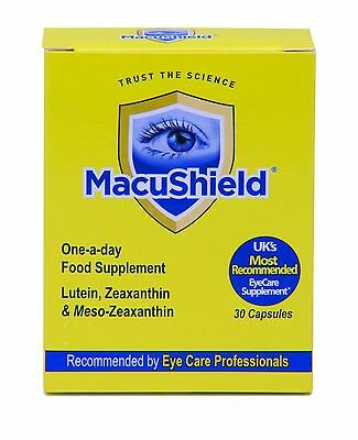 MacuShield (30 Capsules)  Eye Care Macular Pigment Food Supplement