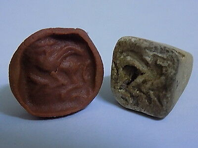 Ancient Stone Seal/Stamp Bactrian C.200 BC     #BE1716 • CAD $44.10