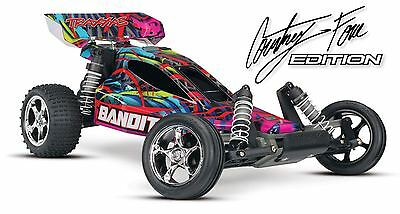 Traxxas - Bandit VXL 1/10 Scale Buggy Courtney Force RTR, w/TSM,