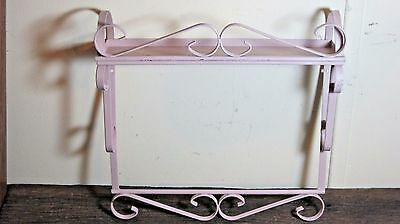 Vintage Distressed Metal Wall Shelf Home & Garden Bed Bath Vanity Kitchen Rack