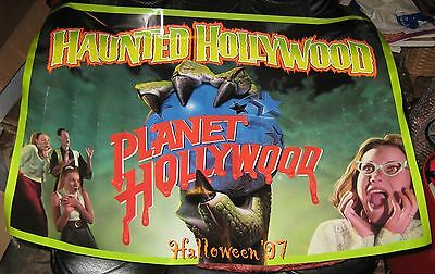 1997 Haunted Halloween Planet Hollywood Poster