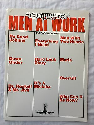 Men At Work Greatest Hits Piano Sheet Music Guitar Chords Lyrics