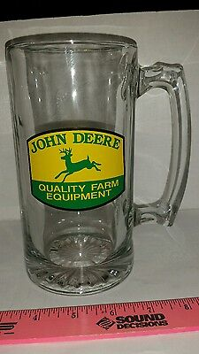 John Deere old logo Tractor Glass Beer Mug Stein glass cup brand new free ship