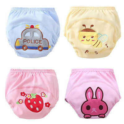 Baby Infant Reusable Washable Cloth Diapers Kids Nappy Cover Adjustable Pants