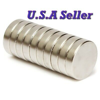 10PCS 12mm X 3mm Round Disc Super Strong Rare Earth Magnets Neodymium US SHIPPED