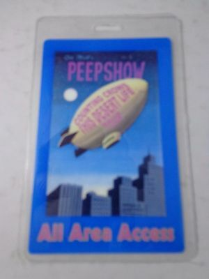 ! Counting Crows-Peepshow-Thi Decent Life- Concert Backstage Pass-Laminate