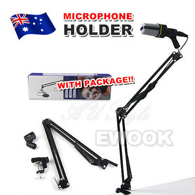 Broadcast Studio Microphone Suspension Boom Scissor Arm stand with Shock Mount