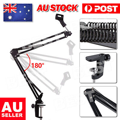 Pro Mic Microphone Holder Suspension Boom Arm Desktop Stand Mount for Broadcast