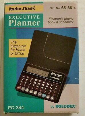 New Vintage Radio Shack rolodex electronic phone book and scheduler planner
