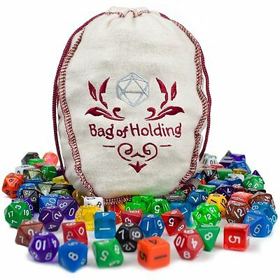 Wiz Dice Bag of Holding:140 Polyhedral Dice in 20 Guaranteed GDIC-1701 CXX