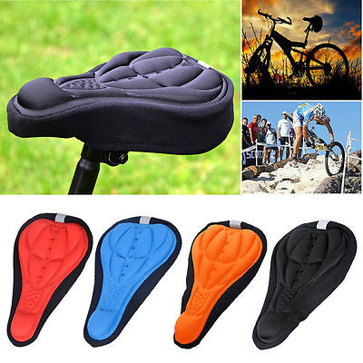 Cycling Bicycle Bike Seat Pad Saddle Cover Soft Cushion 3D Gel Silicone Case
