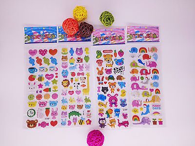 4pcs Cute kids favor Embellishments Paper Crafts Stickers lot-kids Birthday gift