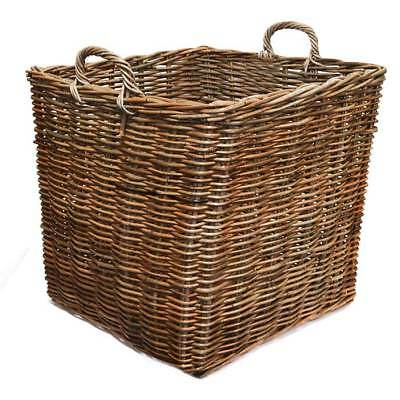 Fireside Square Wicker Log Toy Basket - Extra Large, Brown