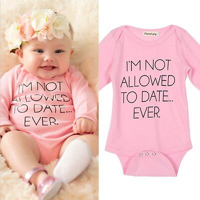 Pink Baby Boy Girl Infant Cotton Long Sleeve Romper Jumpsuit Bodysuit Outfit