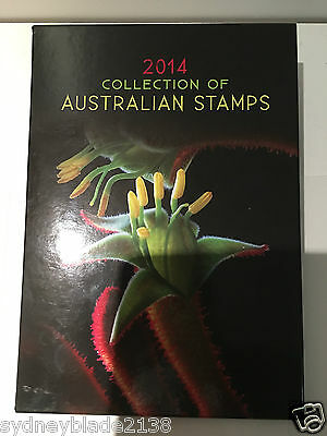 Collection of 2014 Australian Post Year Book Album with Stamps - Deluxe Edition