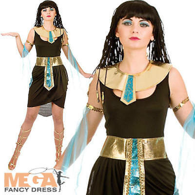 Cleopatra Ladies Ancient Egypt Fancy Dress Womens Egyptian Queen Adults Costume